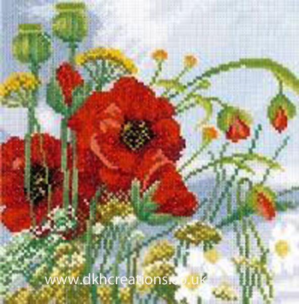 Poppies Evenweave Cross Stitch Kit